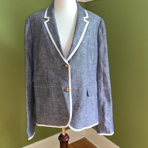 NWT J Crew linen school boy blazer, size 12